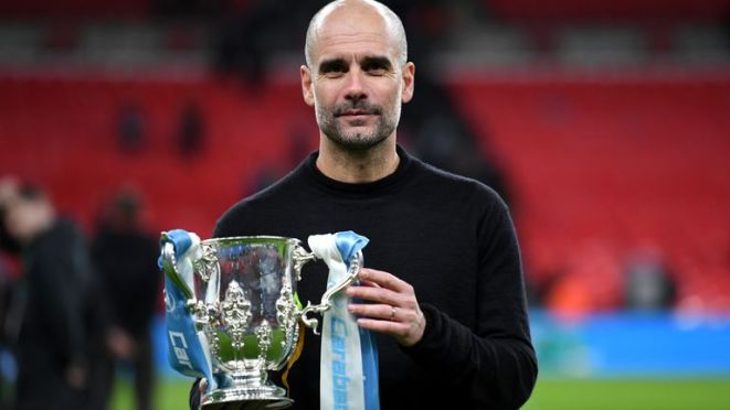Pep Guardiola and Manchester City have won three successive Carabao Cups