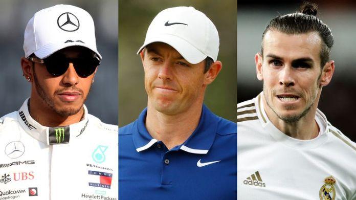 Lewis Hamilton, Rory McIlroy and Gareth Bale
