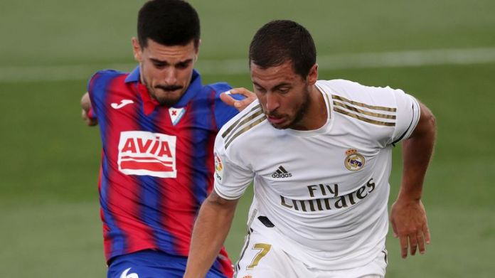 Eden Hazard suffered an injury 'scare' during Real Madrid's victory over Eibar