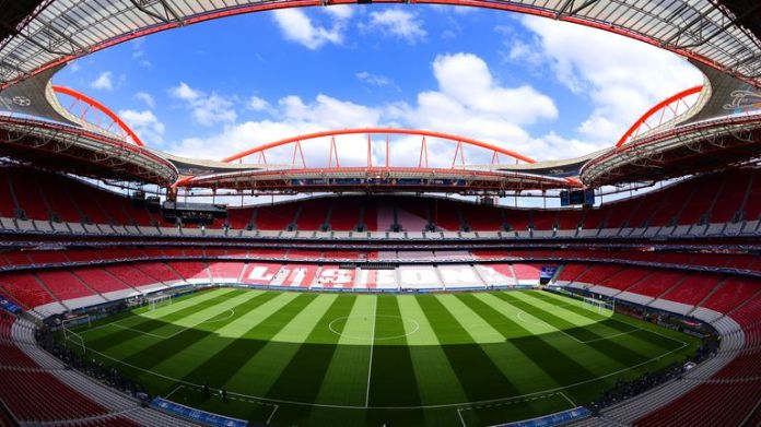 The Estadio da Luz in Lisbon has a capacity of 65 000 people