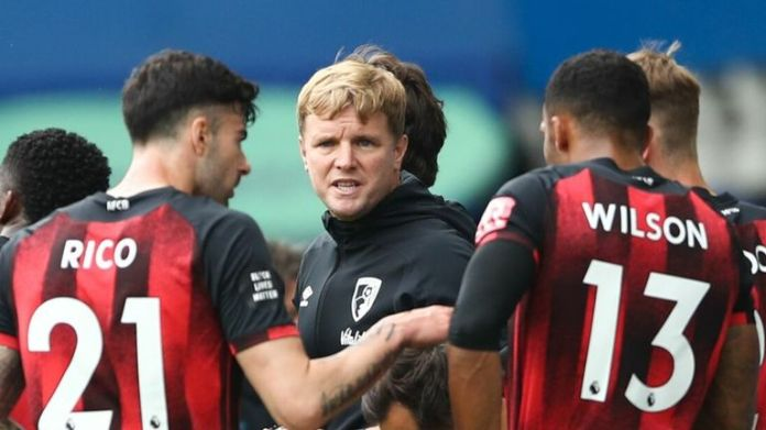 Howe led Bournemouth from the fourth tier of English football to the Premier League