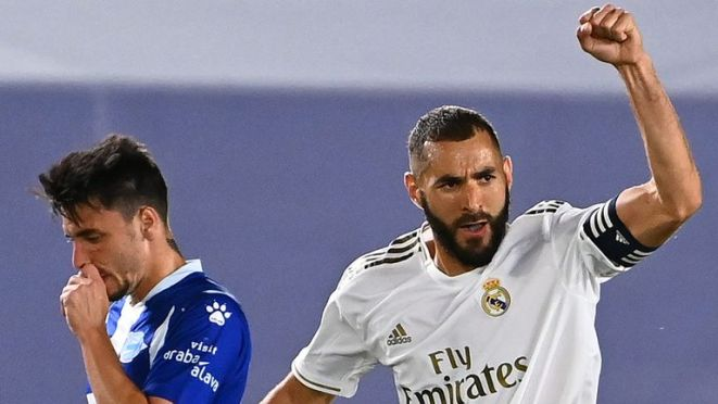 Benzema scored one and made the other in Real Madrid's 2-0 win