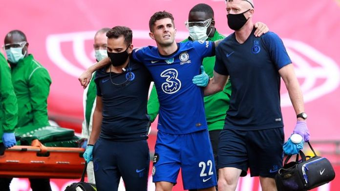 Chelsea suffered two hamstring injuries with Pulisic joining Cesar Azpilicueta