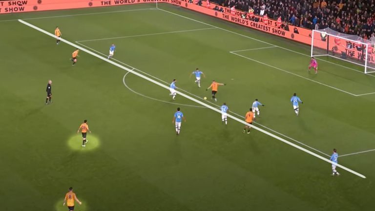Doherty was Wolves' most advanced player when scoring against Man City