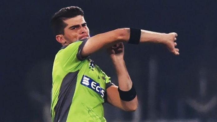 Lahore Qalandars' Shaheen Afridi in full cry against Islamabad United