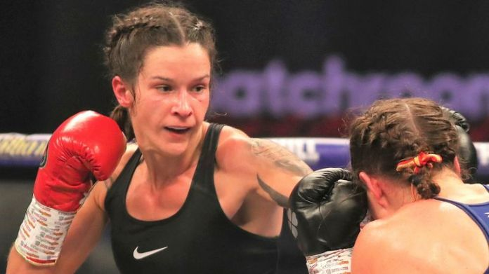 Terri Harper halted Katharina Thanderz in the ninth round