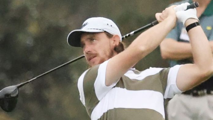 Tommy Fleetwood is alongside Willett on seven under