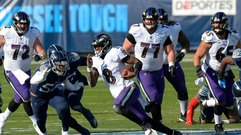 Highlights from the Baltimore Ravens vs Tennessee Titans in the NFL playoffs
