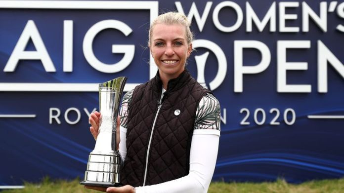 Sophia Popov claimed a two-shot win at Royal Troon in 2020