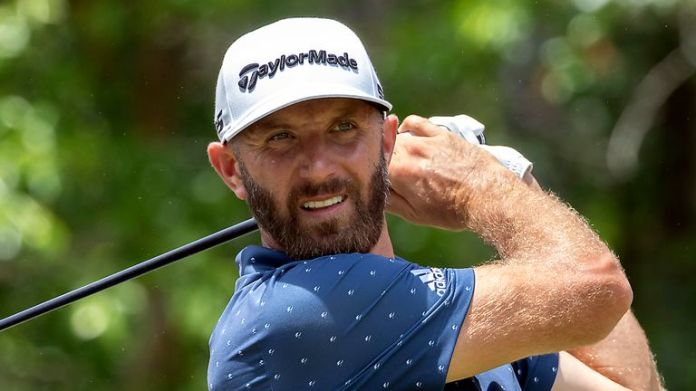 Dustin Johnson is one off the lead after a 65