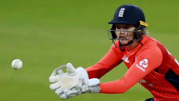 Sarah Taylor, pictured here in 2019, came out of retirement early ahead of her return in The Hundred to help ease Northern Diamonds' injury concerns