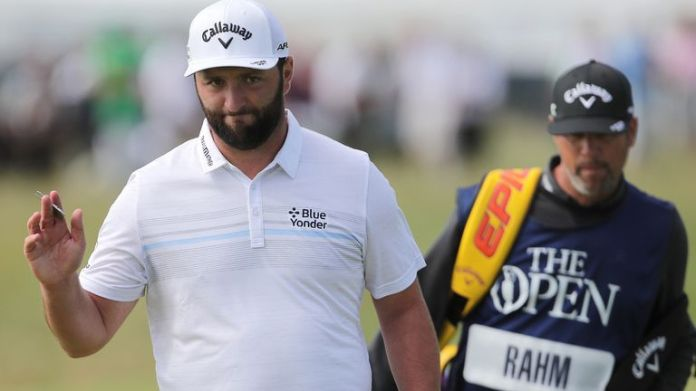 Jon Rahm finished tied-third at Royal St George's in the final men's major of the year