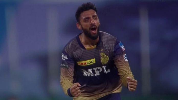 Kolkata Knight Riders' Varun Chakravarthy took 3-13, including two wickets in as many balls