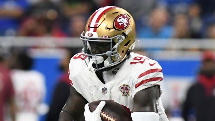 Deebo Samuel racked up 189 yards receiving and a touchdown on nine catches for the San Francisco 49ers in Week One