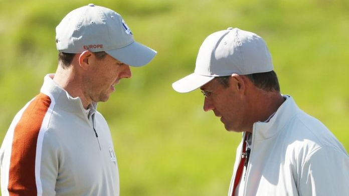 Rory McIlroy has been sent out first by Padraig Harrington in the Ryder Cup singles