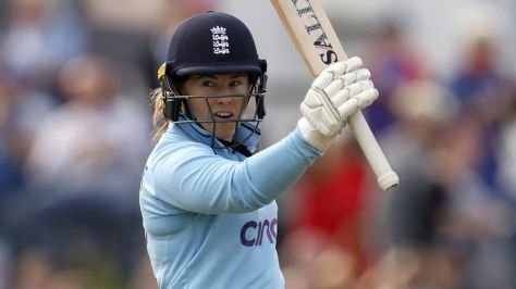 The best of the action from the fifth ODI between England and New Zealand in Canterbury as Heather Knight's side won by 203 runs