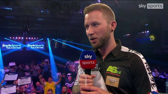 Danny Noppert revealed he had some troubles backstage after feeling Michael van Gerwen was stamping on the floor when he was aiming for a double