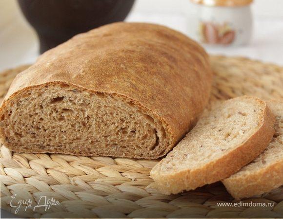 Цельнозерновой хлеб. Ингредиенты: пшеничная мука, вода, мука