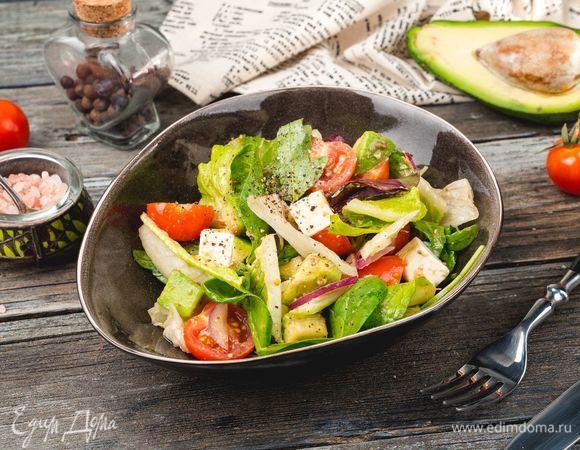Салат из авокадо и феты с цитрусовой заправкой ...
