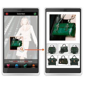 Visenze upload photo to search functionality allow for the quick identification of product in image