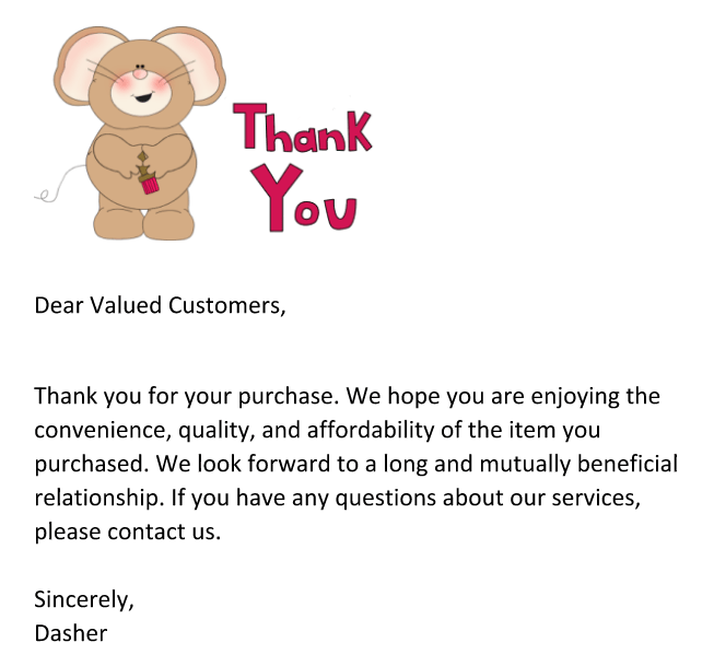 thank you letter to client for payment images format formal valued customer letters