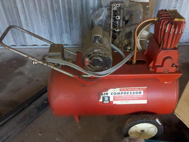Old Sears Craftsman Air Compressor