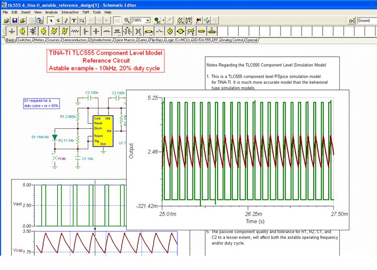 555 Timer Circuit Simulation Software