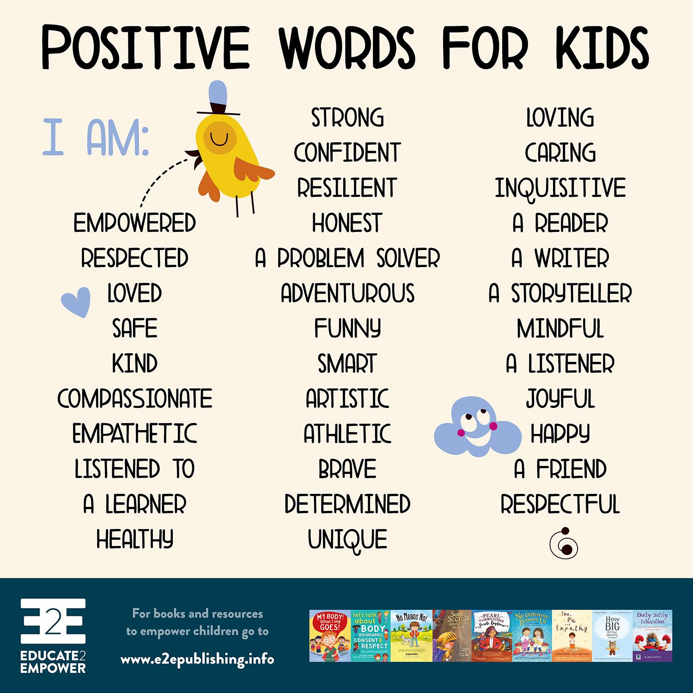 Kind Words Worksheet For Kids