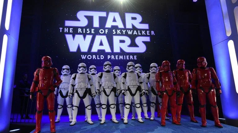 Stormtroopers at the Rise of Skywalker film premiere