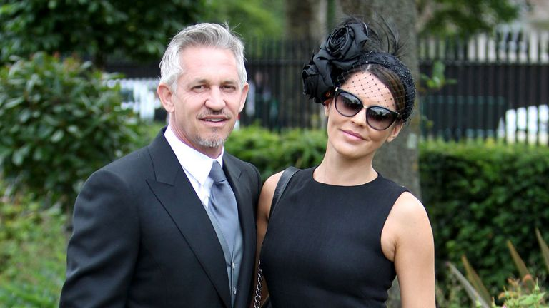 Gary and Danielle Lineker pose for a photograph during day one of the 2015 Royal Ascot Meeting at Ascot Racecourse, Berkshire. PRESS ASSOCIATION Photo. Pic