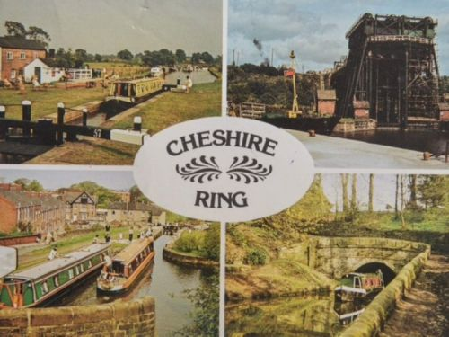 "Postcard sent by Fred and Rose West to the "" West Williams Menagerie "" in 1990 . Police have just started digging up the garden of convicted  peodophiles David and Pauline  Williams's former property in Cullompton, Devon looking for more bodies of children . The postcard depicts canal scenes in Cheshire, however it was sent from Gloucestershire ? The postcard appears to be written in code ."