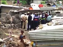 The collapse happened in the western city of Pune