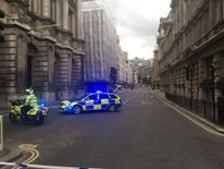 Police have cordoned off the area. Picture: Oliver Mott