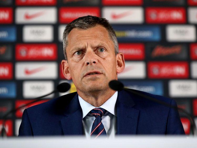 Photo du dossier du 28-06-2016 du directeur général de FA, Martin Glenn.