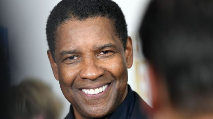The star of The Magnificent Seven, Denzel Washington, attends the  film's New York premiere at the Museum of Modern Art