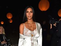 Kim Kardashian attends the Givenchy show as part of the Paris Fashion Week Womenswear  Spring/Summer 2017