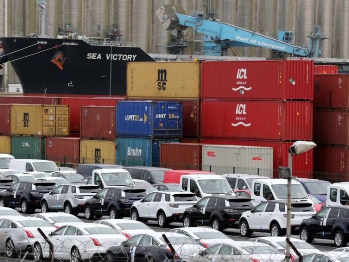 Shipping containers and vehicles wait to be loaded for export at Liverpool Docks  The Chequers challenge: Mixing business and politics 24e1a8a739b866aed34c5389534139f92001e829dcb3f25e87a3513523bf848f 3802898