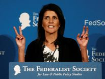 Nikki Haley could be Mr Trump's first female appointment