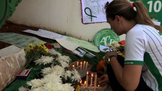 A vigil for those who died aboard the fatal flight carrying the Chapecoense team.