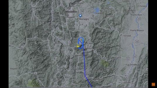 Radar shows the plane was circling before it crashed