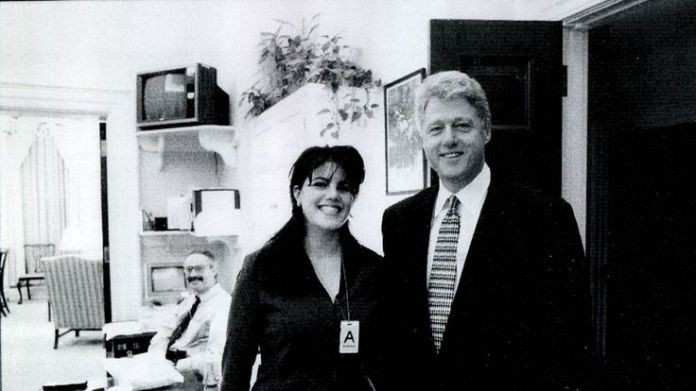 White House intern Monica Lewinsky meeting President Bill Clinton at the White House in 1998  How can a president be impeached? 844d9dfd772494df5bfa7eea7b6fd0215fc7a7cd36f7fd905577adefa5a35f04 3826513