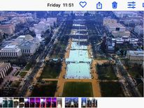 Ian Woods' tweeted picture taken nine minutes before Donald Trump was inaugurated