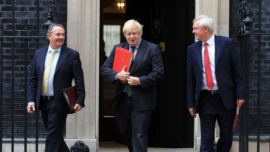 International Trade Secretary Liam Fox, Foreign Secretary Boris Johnson and Brexit Secretary David Davis