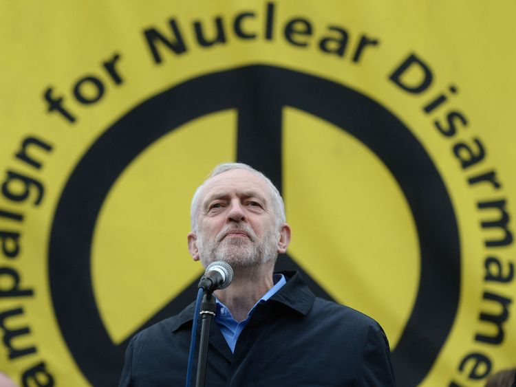 Labour leader Jeremy Corbyn is a life-long opponent of nuclear weapons