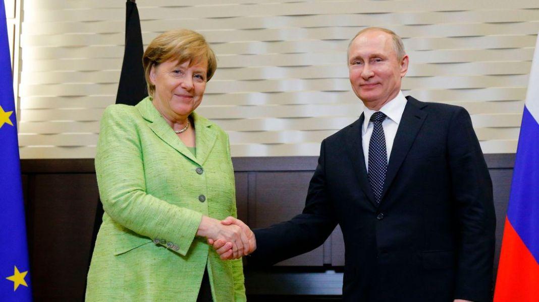 Rezultat slika za меркел и путин