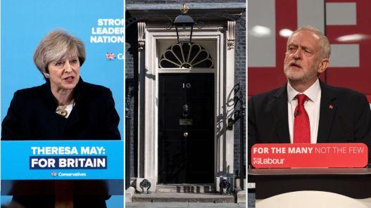 Výsledok vyhľadávania obrázkov pre dopyt theresa may and jeremy corbyn