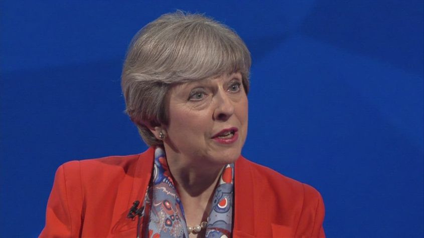 Mrs May is asked about recent U-turns
