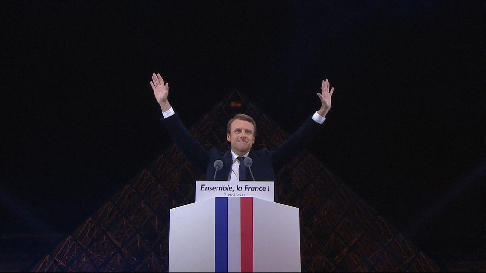 Resultado de imagen de emmanuel macron victory speech