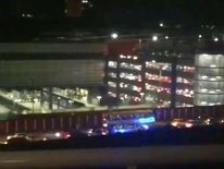 Emergency services at Manchester Arena. Pic: @Suzymoonbeam