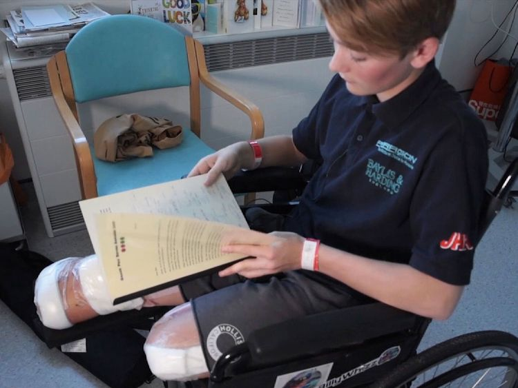 Billy Monger lost both legs after the crash